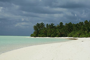Dhaalu Atoll - The uninhabited island of Maafushi in South Nilande Atoll