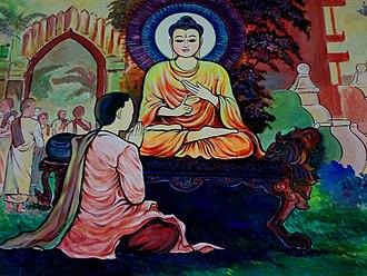 Buddhist mythology - Mahapajapati, first Buddhist nun and Buddha's stepmother ordains