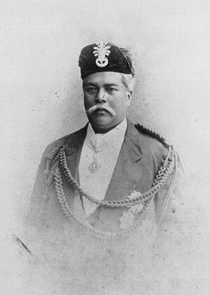 Abu Bakar of Johor - Photographic portrait of Sultan Abu Bakar