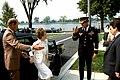 Major General Jerry Curry, commander, Military District, Washington, salutes First Lady Nancy Reagan as she arrives for a USO award luncheon - DPLA - 94fdb3684e6d1eba7f3bb04de9541977.jpeg