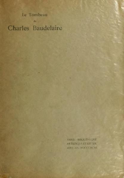 File:Mallarmé - Le Tombeau de Charles Baudelaire, 1896.djvu