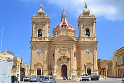 The parish church in Xagħra
