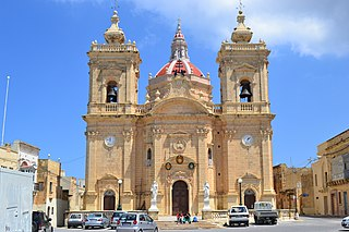 Basilica of the Nativity of Our Lady, Xagħra Church in Gozo, Malta