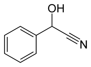 Cyanohydrin - Image: Mandelonitrile 2D skeletal