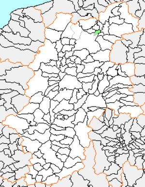 Toyono, Nagano - Location of Toyono in Nagano Prefecture