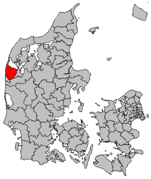 Lemvig Municipality - Location of Lemvig municipality