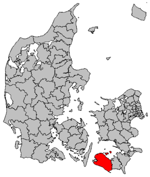 Lolland Municipality - Image: Map DK Lolland