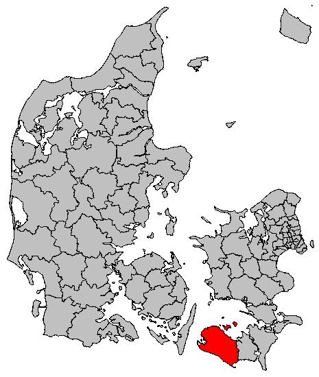 Lokalisering af Lolland Kommune