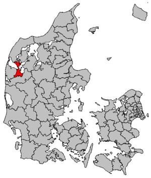 Struer Municipality - Image: Map DK Struer