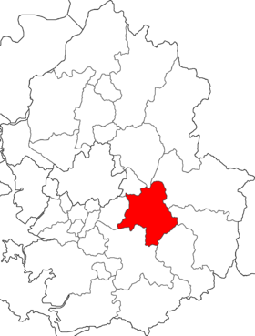 Location of Gwangju