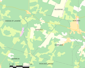 Map commune FR insee code 40302.png