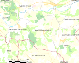 Saint-Germain-d'Arcé – Mappa