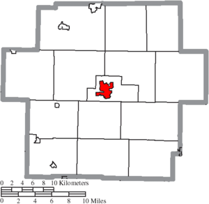 Carrollton, Ohio - Image: Map of Carroll County Ohio Highlighting Carrollton Village