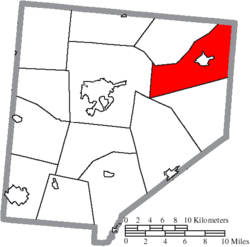 Location of Richland Township in Clinton County