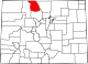 Map of Colorado highlighting Jackson County.svg