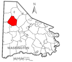 Map of Cross Creek Township, Washington County, Pennsylvania Highlighted.png