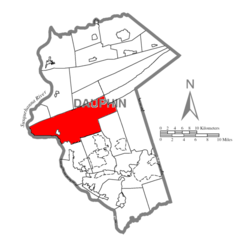 Map of Dauphin County, Pennsylvania Highlighting Middle Paxton Township.PNG