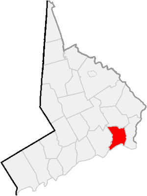 National Register of Historic Places listings in Bridgeport, Connecticut - Location of Bridgeport in Fairfield County, Connecticut