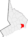 Map of Fairfield County, Connecticut Bridgeport Highlighted.PNG