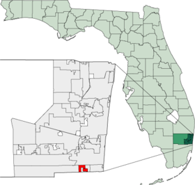 Map of Florida highlighting West Park.png