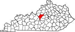Map of Kentucky highlighting Nelson County.svg