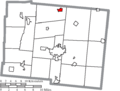 Map of Logan County Ohio Highlighting Belle Center Village.png