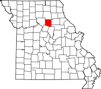 Map of Missouri highlighting Randolph County