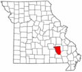 Map of Missouri highlighting Reynolds County.png