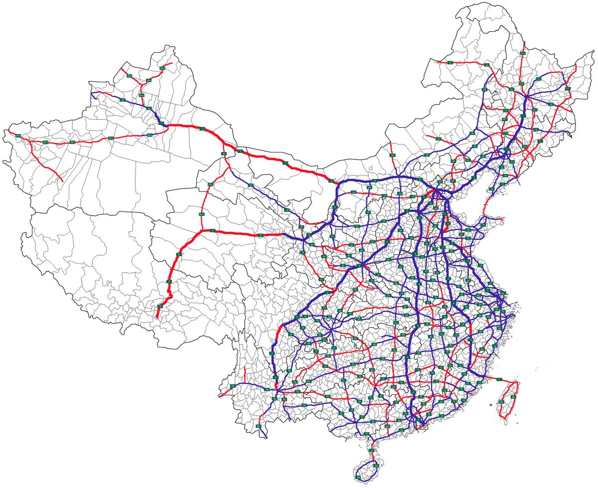 Carte Routiere Chine.Liste Des Autoroutes De La Chine Wikipedia