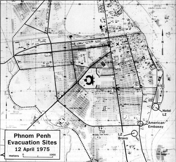 Map of Operation Eagle Pull evacuation sites
