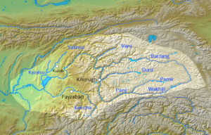 Panj River - The Panj river forms much of the border between Tajikistan and Afghanistan