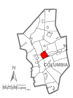Scott Township, Columbia County, Pennsylvania - Image: Map of Scott Township, Columbia County, Pennsylvania Highlighted
