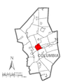 Map of Scott Township, Columbia County, Pennsylvania Highlighted.png