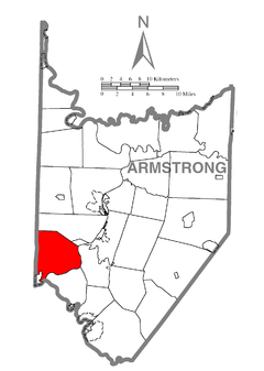 Map of South Buffalo Township, Armstrong County, Pennsylvania Highlighted.png