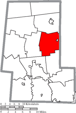 Location of Leesburg Township in Union County