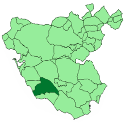 Location of Vejer de la Frontera