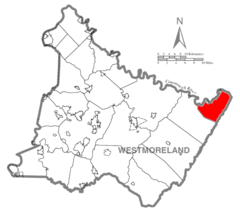 Map of Westmoreland County, Pennsylvania Highlighting St. Clair Township.PNG