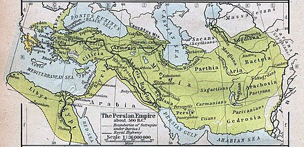 Picture depicting the Achaemenid Persian empire in relation to the Persian Gulf. Map of the Achaemenid Empire.jpg