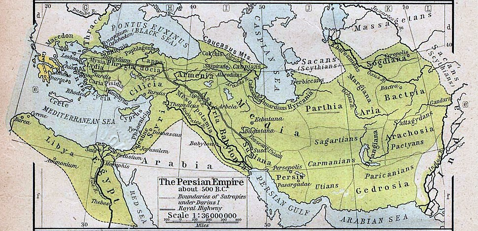 Map of the Achaemenid Empire