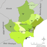 Mapa do Alacantí
