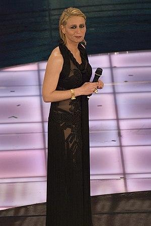 Maria De Filippi - Maria De Filippi onstage at the Sanremo Music Festival, 2009