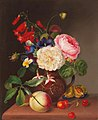 Marie Wagner - Flower Piece with Peach, Plum and Cherries,.jpg