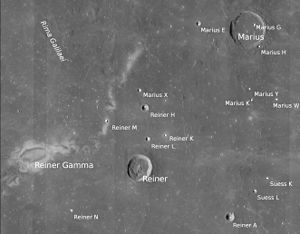 Reiner Gamma - Reiner and Marius areas