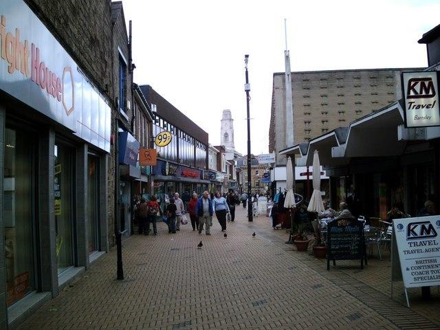 Market Street towards Town Hall - geograph.org.uk - 477819