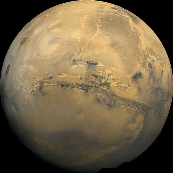image of Mars with Valles Marineris from Wikipedia