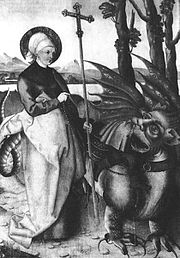 Representação do dragão como um ser demoníaco nas culturas religiosas européias.