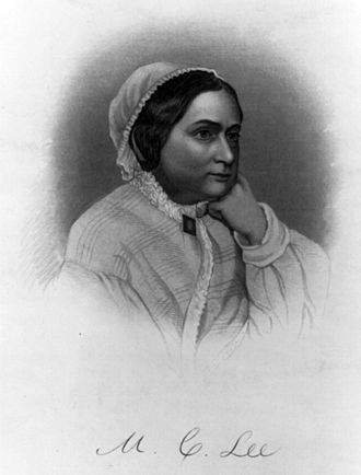 Mary Anna Custis Lee - Engraving of Mary Anna Custis Lee, 1854