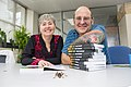 Mary Morgan-Richards and Steve Trewick 2019 with their book NZ Wildlife and weta.jpg