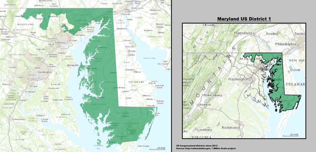 Marylands St Congressional District Wikipedia - Maryland us county map