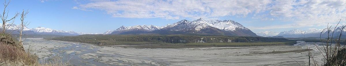 Matanuska River panorama